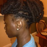 Barrel Braid Updo with locs
