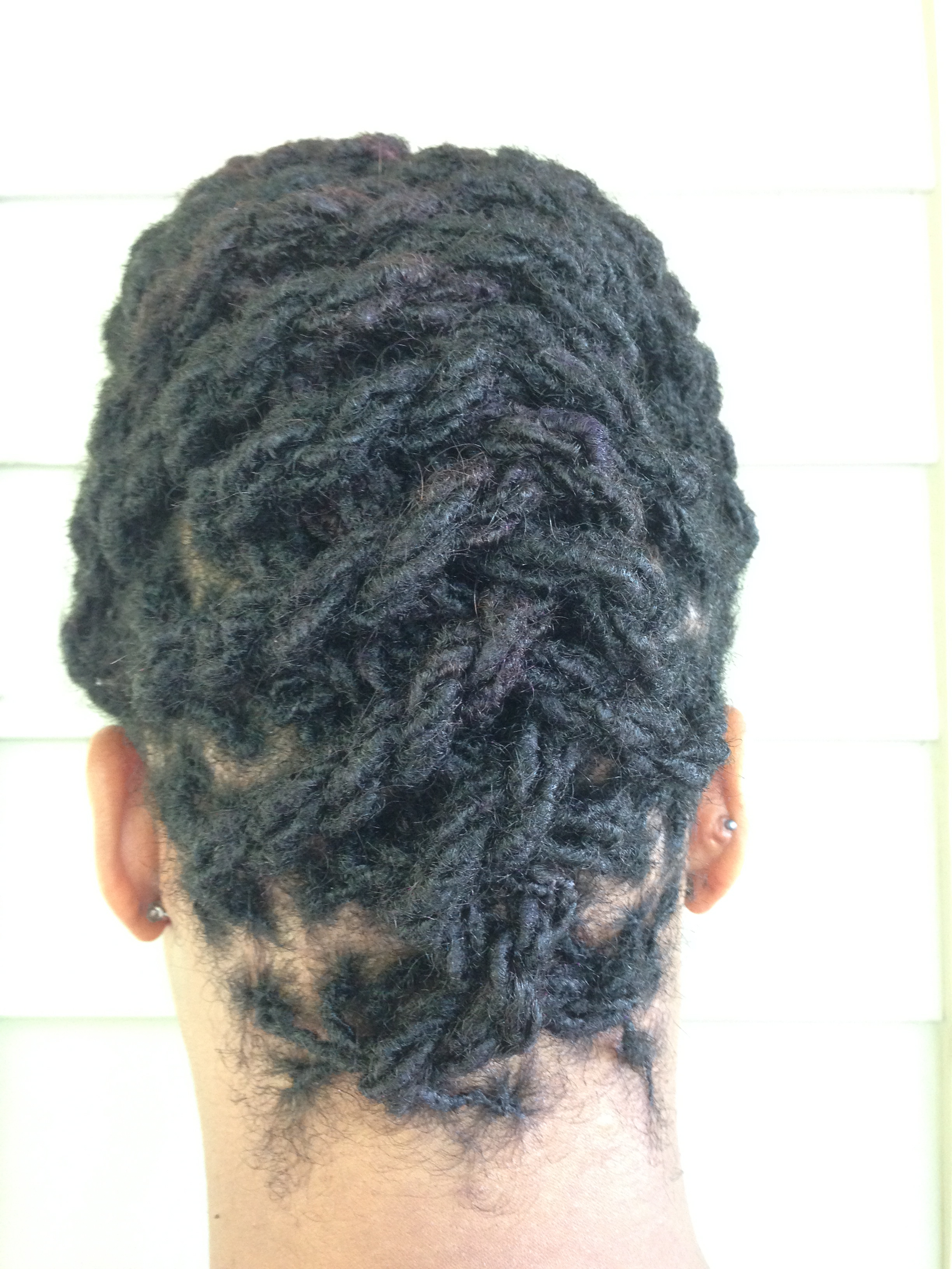 2 Strand Twist Updo with locs